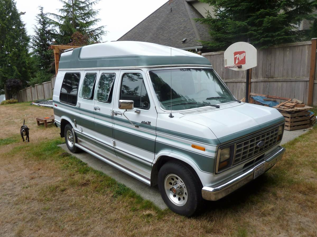 1991 ford econoline camper for sale in port orchard washington. Black Bedroom Furniture Sets. Home Design Ideas