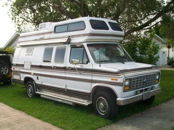 1990 Ford E250 Camper For Sale In St Petersburg Florida