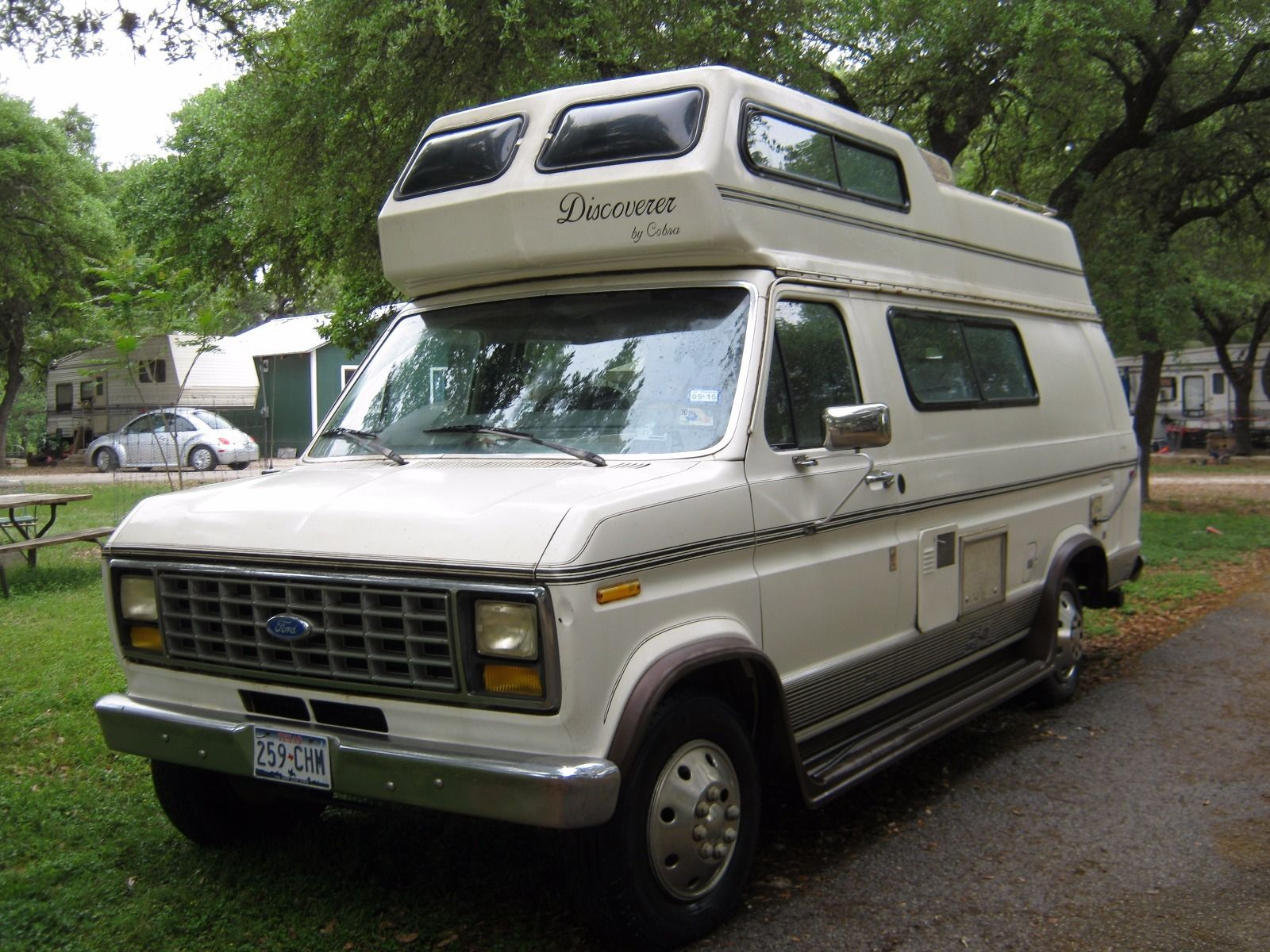 1991 ford e250 discoverer by cobra 19ft camper for sale canyon lake tx. Black Bedroom Furniture Sets. Home Design Ideas